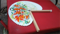 Paper folding fan, oriental style