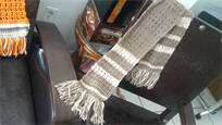 Beautiful handmade scarf, brown tones